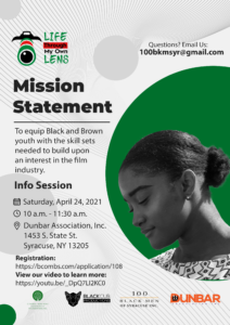 Life Through My Own Lens: An Opportunity For Youth To Express Their Story Through Film